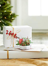 Load image into Gallery viewer, Lovepop Winter Flower Basket Pop Up Card - 3D Card, Flower Basket, Christmas Card, Holiday Greeting Card, Pop Up Flowers, 3D Christmas Card, Merry Christmas Card - CHARMERRY
