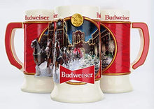 Load image into Gallery viewer, Budweiser 2020 Clydesdale Holiday Stein - Brewery Lights - 41st Edition - Ceramic Beer Mug - Christmas Gifts for Men, Father, Husband - CHARMERRY