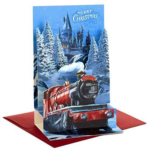 Hallmark Harry Potter Boxed Christmas Cards, Hogwarts Express Paper Craft (8 Displayable Pop Up Cards and Envelopes) (5XPX9465) - CHARMERRY