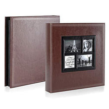 Load image into Gallery viewer, Family Wedding Picture Album (Brown) | Holds 600 Horizontal and Vertical Photos - CHARMERRY
