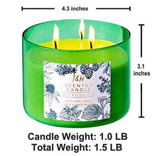 Load image into Gallery viewer, Large Citronella Candles Outdoor Indoor Candle Made with Natural Soy Wax and Essential Oils | 3 Wick Scented Candles Long Lasting 80 Hour Burn | 16 Ounces Highly Scented Aromatherapy Candles for Home - CHARMERRY
