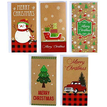 Load image into Gallery viewer, Kraft Christmas 30 Gift Card / Money Holders and 30 Envelopes - CHARMERRY
