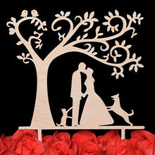 Load image into Gallery viewer, dog-topper-cat-wedding-cake-tree