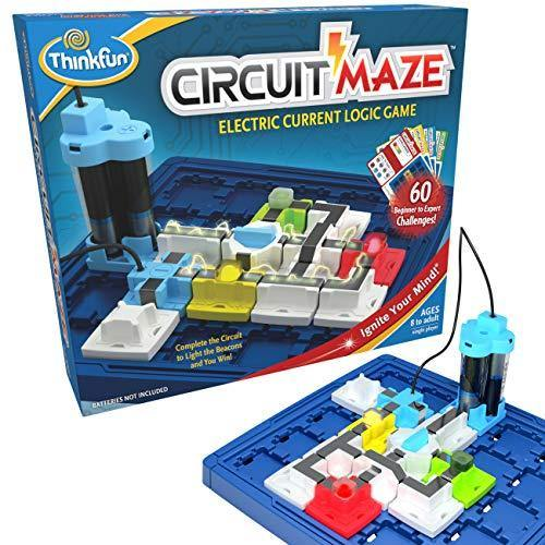ThinkFun Circuit Maze Electric Current Brain Game and STEM Toy - Teaches Players about Circuitry through Fun Gameplay - CHARMERRY
