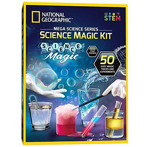 NATIONAL GEOGRAPHIC Science Magic Kit | Great STEM Learning Science Kit - 20 Unique Science Experiments as Magic Tricks - CHARMERRY