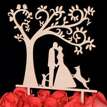 Load image into Gallery viewer, dog-topper-cat-wedding-cake-redrose