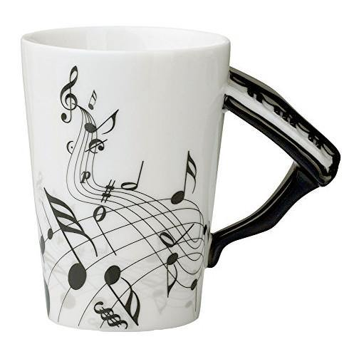 Piano Coffee Mug (Musical Instrument Gift for Pianist, Musician &Music Lovers)