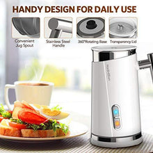 Load image into Gallery viewer, HadinEEon Milk Frother, Electric Milk Frother & Steamer for Making Latte, Cappuccino, Hot Chocolate, Automatic Cold Hot Milk Frother & Warmer (4.4 oz/10.1 oz), Coffee Frother Milk Heater, 120V - CHARMERRY
