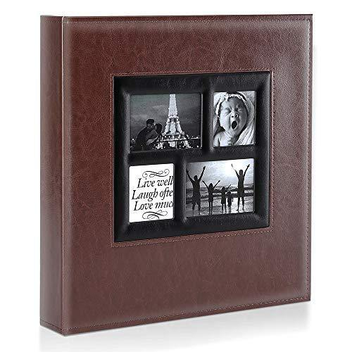 Family Wedding Picture Album (Brown) | Holds 600 Horizontal and Vertical Photos - CHARMERRY