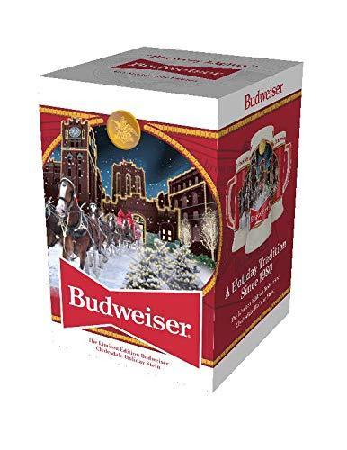 Budweiser 2020 Clydesdale Holiday Stein - Brewery Lights - 41st Edition - Ceramic Beer Mug - Christmas Gifts for Men, Father, Husband - CHARMERRY
