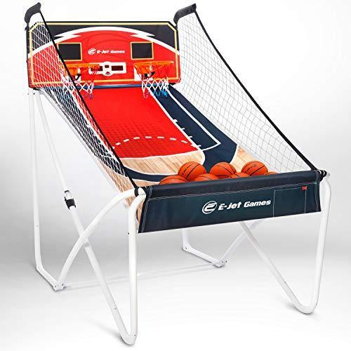Arcade Basketball Games (Online Battle & Challenge, Shoot Hoops) - Electronic Basketball Arcade Games, Dual Shot / Blue - CHARMERRY