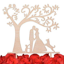 Load image into Gallery viewer, dog-topper-cat-wedding-cake-romantic
