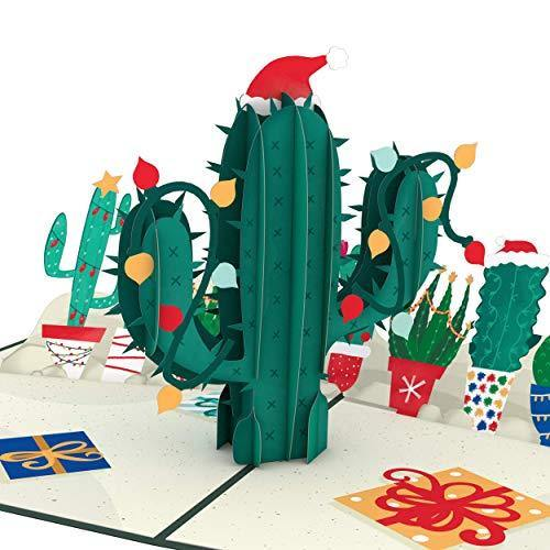 Lovepop Holiday Cactus Pop Up Card - 3D Cards, Holiday Pop Up Card, Christmas Pop Up Card, 3D Christmas Card, Merry Christmas Card - CHARMERRY