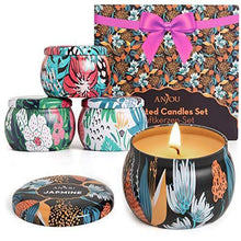 Load image into Gallery viewer, Scented Candles Gift Set, 4 Cans Made of 100% Natural Soy Wax with Essential Oils for Stress Relief, 4 Fragrances Use for Aromatherapy, Bath, Yoga, Perfect for Christmas, Birthday, Mother's Day - CHARMERRY