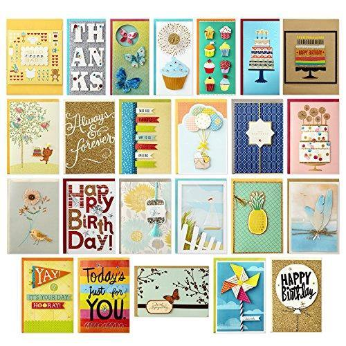 Hallmark All Occasion Handmade Boxed Set of Assorted Greeting Cards with Card Organizer (Pack of 24)—Birthday, Baby, Wedding, Sympathy, Thinking of You, Thank You, Blank - CHARMERRY