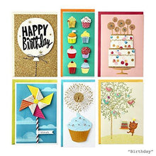Load image into Gallery viewer, Hallmark All Occasion Handmade Boxed Set of Assorted Greeting Cards with Card Organizer (Pack of 24)—Birthday, Baby, Wedding, Sympathy, Thinking of You, Thank You, Blank - CHARMERRY