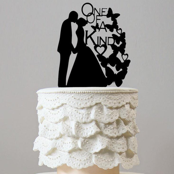 Romantic Wedding Cake Topper (Kiss Hand-holding /Butterfly /Engagement)