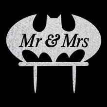 Load image into Gallery viewer, Bat Wedding Cake Topper (Mr & Mrs /Cartoon Comics TV Movie Hero Theme /Creative Funny) - CHARMERRY