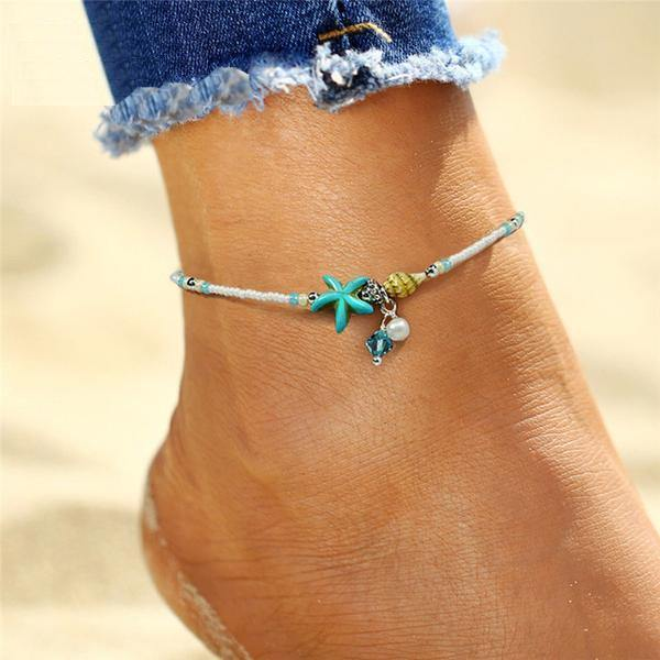 Beach Chic Anklets - Ankle Jewelry, Ankle Chains & Foot Bracelets | Outfit Additions & Accessories Charmerry b03