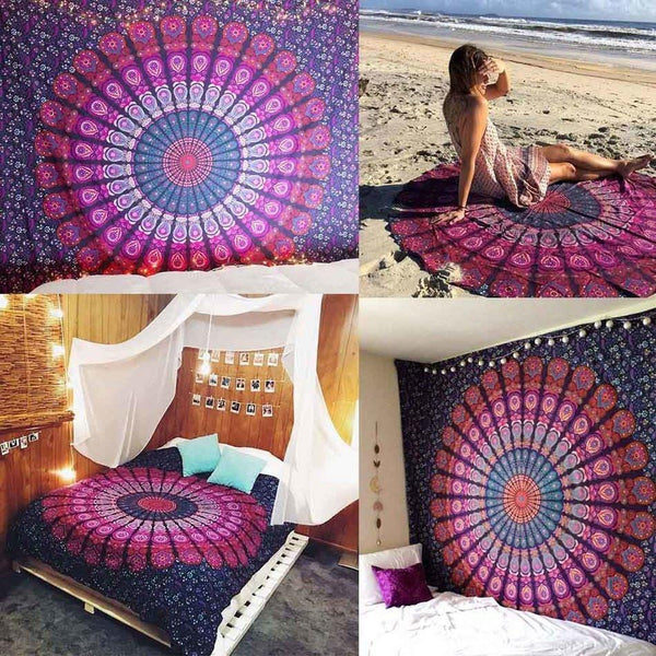 Beach Throw Cover-Up /Picnic Blanket /Tablecloth /Wall Home Room Decor