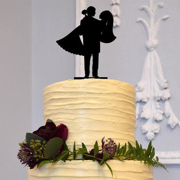 Beautiful Wedding Cake Toppers (Romantic Bridal Carry /Loving Gaze)