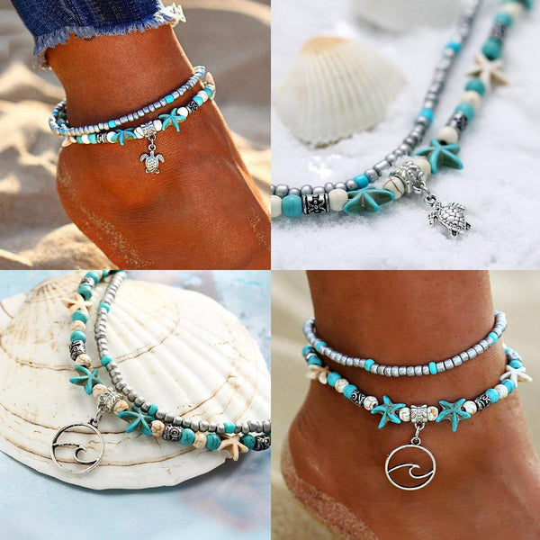 Boho Chic Anklets - Summer Beach Foot Jewelry, Ankle Bracelets & Ankle Chains  Outfit Additions & Accessories CHARMERRY