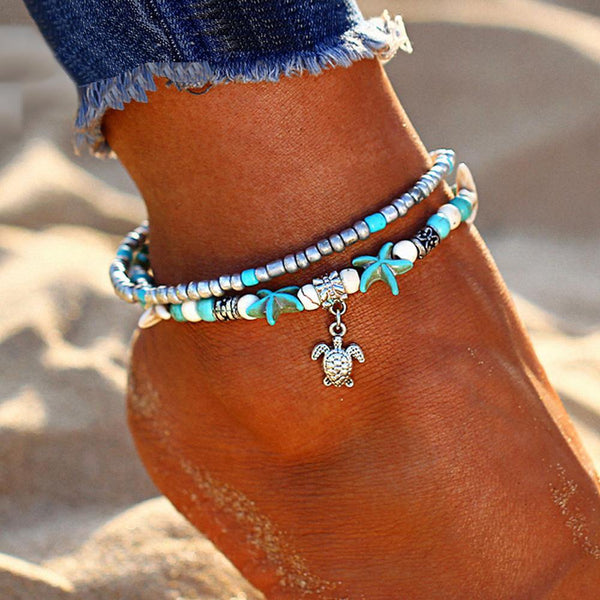 Boho Chic Anklets - Summer Beach Foot Jewelry, Ankle Bracelets & Ankle Chains  Outfit Additions & Accessories Charmerry a08