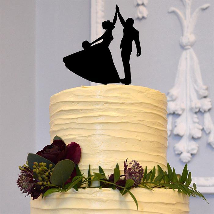 Bride Groom Dancing Cake Topper (Wedding Dance /Romantic Waltz)