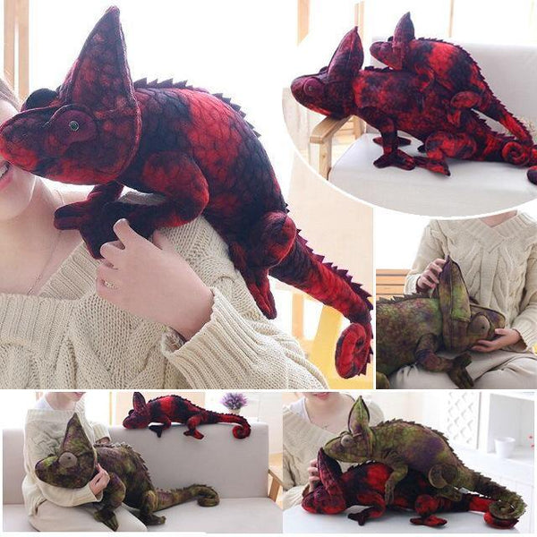 Chameleon Lizard Toys  Novelty Stuffed Animal Gifts, Unique Surprise Plush Toys Charmerry a01