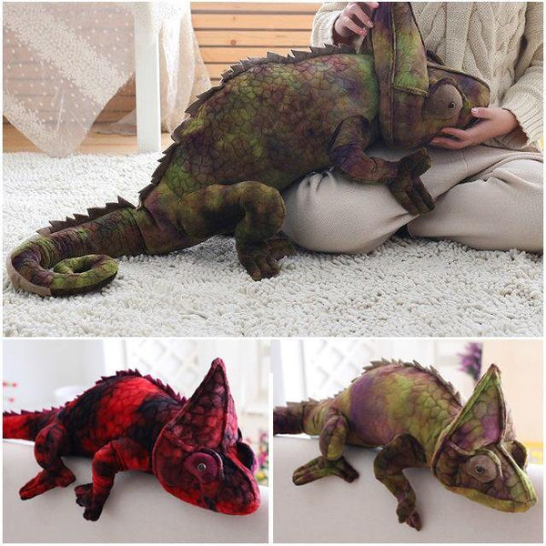 Chameleon Lizard Toys  Novelty Stuffed Animal Gifts, Unique Surprise Plush Toys Charmerry a02