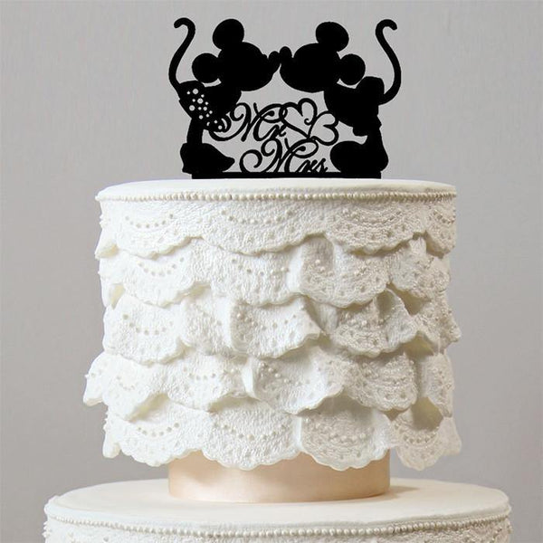Creative Cake Topper (Sweet Mickey Minnie Mouse Theme Inspired Wedding)