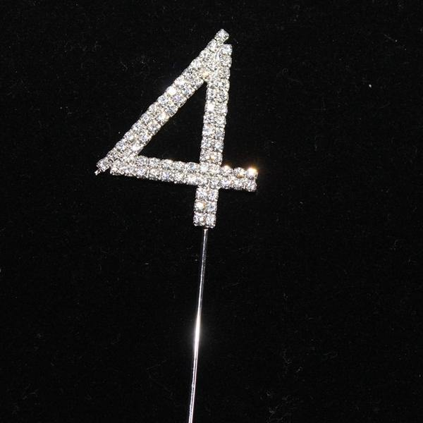 Crystal Rhinestone Numbers for Wedding Anniversary Birthday Decor (FAUX Diamond Cake Topper, Table Numbers)
