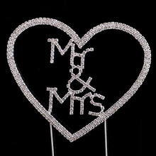 Load image into Gallery viewer, Crystal Rhinestone Wedding Cake Toppers (Luxury FAUX Diamond, Sparkly Shiny & Glitter) Mr & Mrs Charmerry a06