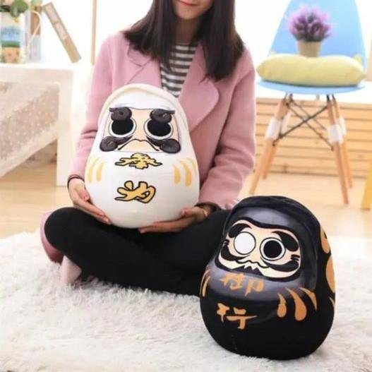 Daruma Throw pillows (Japanese Good Luck Doll Gifts /Creative Funny Novelty)