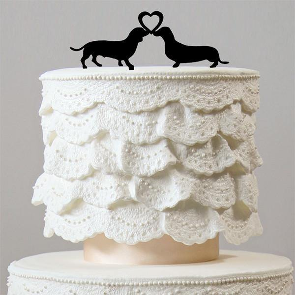 Dog Wedding Cake Topper (Lovely Pets /Engagement /Bridal Shower Party) - CHARMERRY