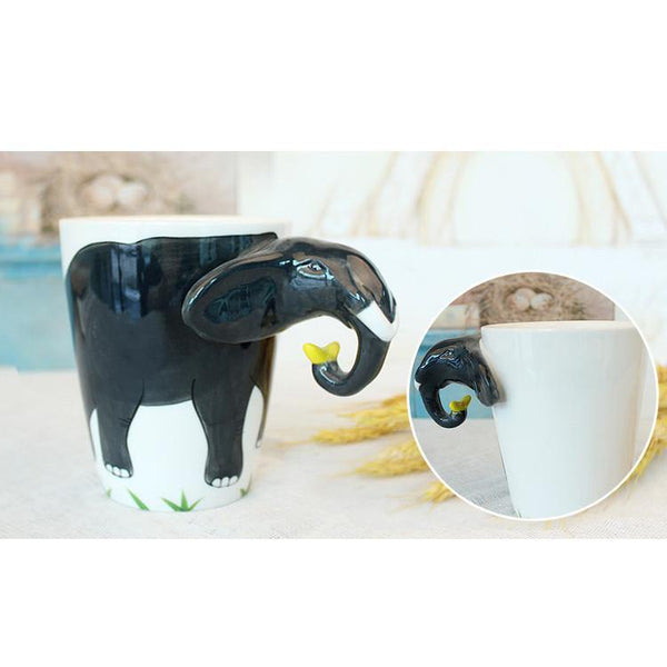 Elephant Coffee Mug -Unique Tea Cup (Special Gifts, Creative &Novelty)