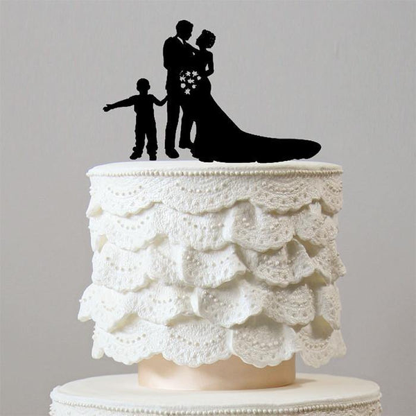 Engagement & Wedding Cake Topper (Family /Son /Boy/Child /Children) charmerry