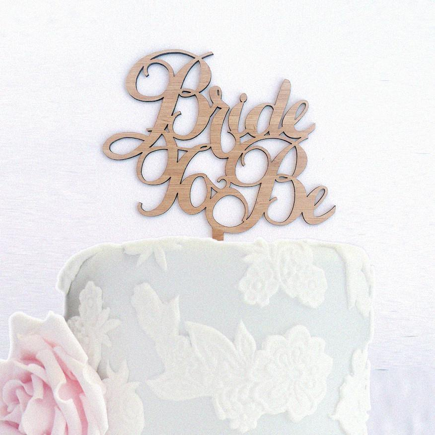Romantic Engagement /Wedding Cake Topper Decoration for Bridal Shower Party - CHARMERRY