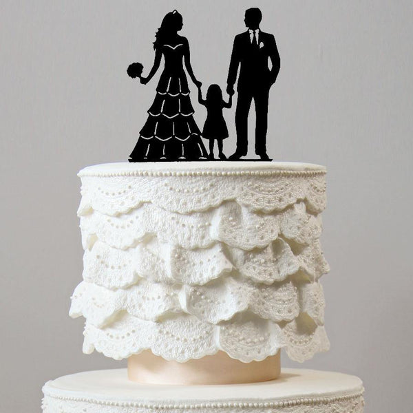 Family Wedding Cake Toppers | Son Daughter Boy Girl Baby Kids Children
