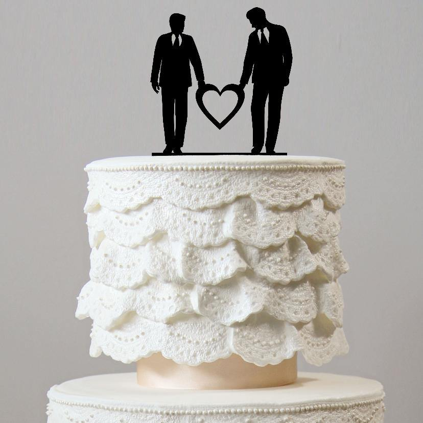 Gay Wedding Cake Topper (Mr. & Mr.  Same-sex marriage Homosexual Love) Charmerry