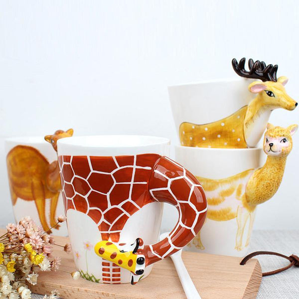 Giraffe Coffee Mug -Unique 3D Tea Cup (Special Gifts, Creative &Novelty)