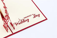 Load image into Gallery viewer, 3D Pop Up Engagement Wedding Card (Romantic Invitation Card /Greeting Card) - CHARMERRY