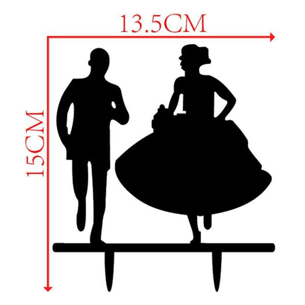 Cake Topper (Bride & Groom Run /Happy Running /Romantic Wedding Party)