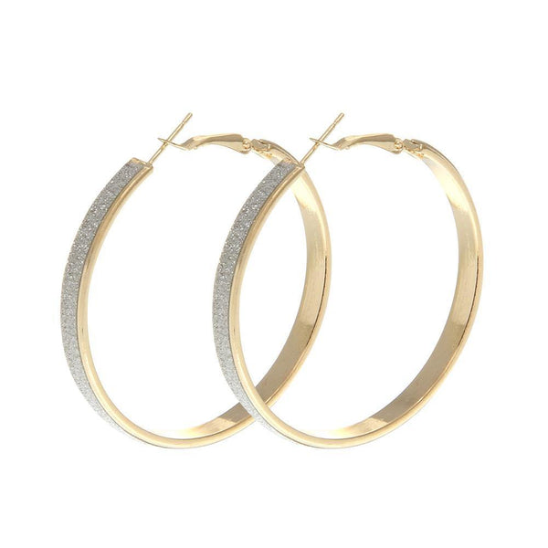 Shiny Circle Hoop Earring