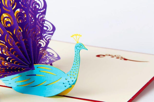 Greeding Cards Peacock 3D Pop Up Greeting Card - Charmerry