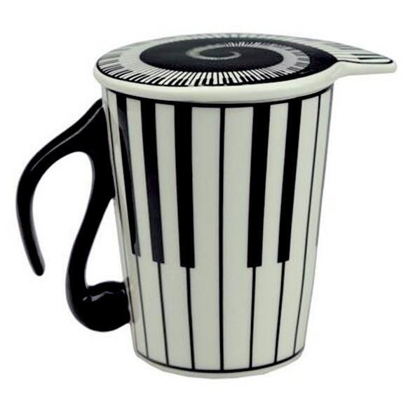Piano Keyboard Coffe Mug /Tea Cup Gift for Musicians & Music Lovers
