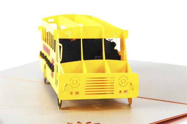 Greeding Cards Bus Greeting Card/ 3D Pop Up Design Holiday Card - Charmerry