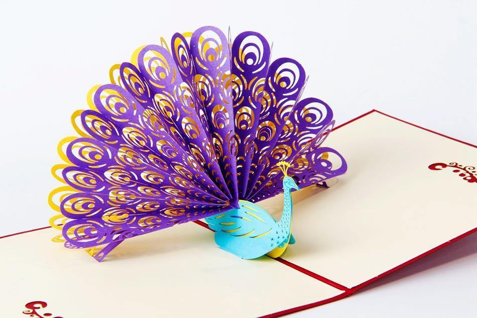 Peacock 3d Pop Up Greeting Card