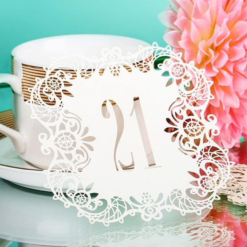 Numbers for Wedding Party [Romantic Rustic Theme /Vintage /Baroque] (21 to 30 Table Cards) 10pcs/set