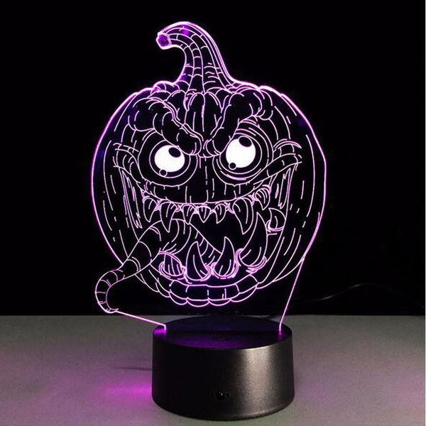 Pumpkin LED 3D Night Light Sign (Halloween Decoration &Decorating Idea)